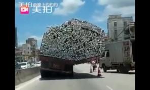Xe tải chạy nghiêng thách thức mọi định luật vật lý