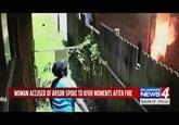 Đốt nhà hàng xóm, người phụ nữ bị bắt vì camera nhà mình ghi lại
