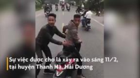 Hải Dương: Nhóm thanh niên đầu trần đi xe máy chặn ôtô chở tân binh nhập ngũ