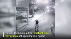 Hai nhóm côn đồ nổ súng, dùng dao rượt đuổi nhau giữa đường