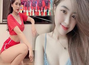"""Nữ CĐV ngồi nhà cổ vũ tuyển VN thi đấu vẫn """"gây bão"""" vì quá xinh HOT nhất tuần"""