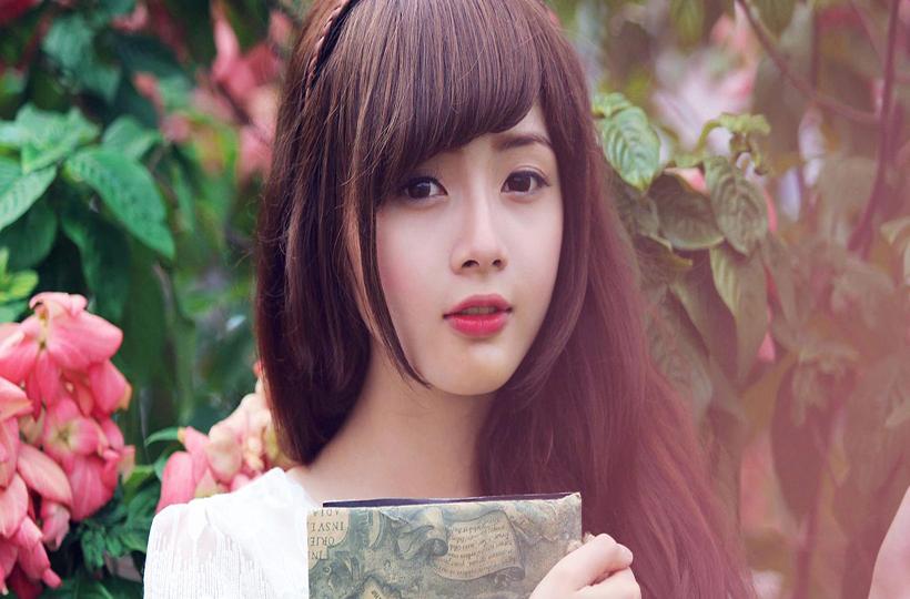 Cô gái với vẻ đẹp ngọt ngào